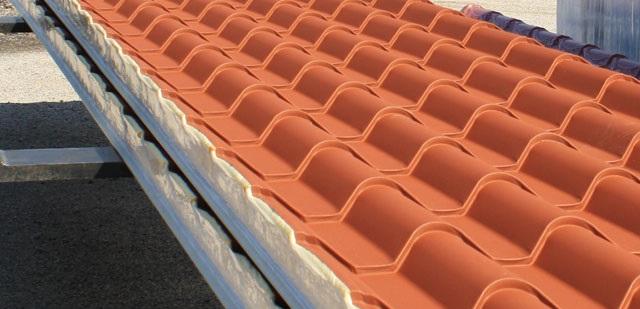 Pannelli per copertura coppo bari puglia for Costo pannelli coibentati finto coppo